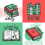 Books Design Concept Set Royalty Free Stock Photography