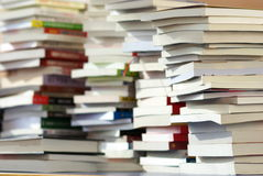 Books on desk Royalty Free Stock Photo