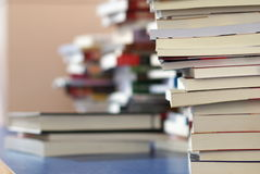 Books on desk Royalty Free Stock Photos