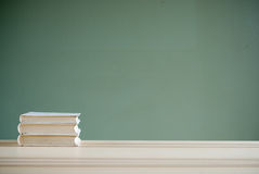 Books on desk Royalty Free Stock Images