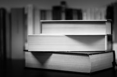 Books. A desktop with some books Royalty Free Stock Image