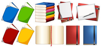 Books with different color covers Royalty Free Stock Images