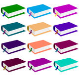 Books of different colors. Vector. Stock Photos