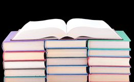 Books of different colours. Stock Photography