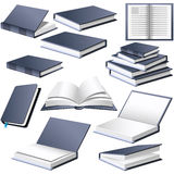 Books in different positions Royalty Free Stock Photography