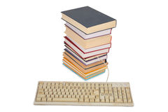 Books with dirty keyboard Stock Photos
