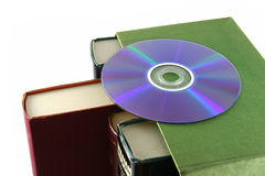Books and disc Royalty Free Stock Image