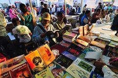 Books displayed at Kolkata Book Fair - 2014. KOLKATA, INDIA - FEBRUARY 4TH : Books displayed at Kolkata book fair, on February 4th, 2014 in Kolkata. It is world' Stock Image