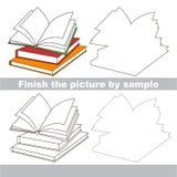 Books. Drawing worksheet. Royalty Free Stock Photos