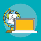 Books and earht planet icon Royalty Free Stock Image