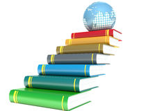 Books and earth. education Stock Images