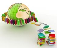 Books and earth Stock Photography