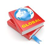 Books and earth. Global metaphors Stock Photo