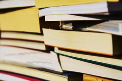 Books and education, background Royalty Free Stock Photo