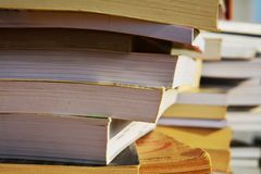 Books, education concept, close up Stock Image