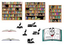 Books, education and library objects Stock Image