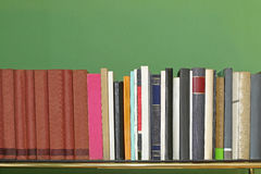 Books. Education Books at Shelf in Home Office Stock Images