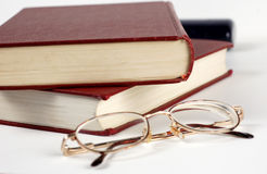 books exponeringsglas Royaltyfri Foto