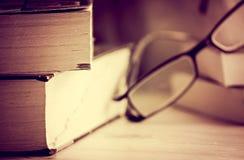 books exponeringsglas Royaltyfri Fotografi