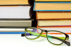 books exponeringsglas Royaltyfri Bild