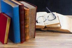 books exponeringsglas Royaltyfria Bilder