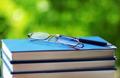 books exponeringsglas Arkivfoto