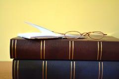 books exponeringsglas Royaltyfria Foton
