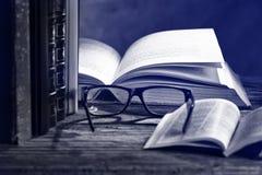 books exponeringsglas Arkivbild