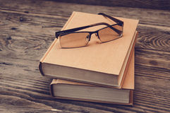 books exponeringsglas två Royaltyfria Bilder
