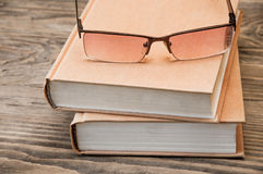 books exponeringsglas två Royaltyfri Fotografi
