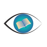 Books eye vector. Illustration isolated on white background. Books in sight Stock Photography