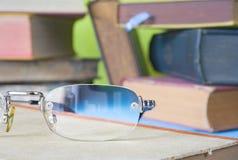 Books with eyeglasses Royalty Free Stock Photo
