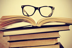 Books and eyeglasses Royalty Free Stock Images