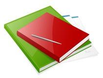books färgrika två Royaltyfria Foton