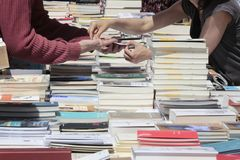 Books fair in mallorca Royalty Free Stock Images