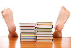 Books and Fallen Man Stock Photos
