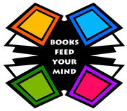 Books. Feeding your mind and making you smarter royalty free illustration