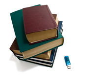 Books and flash Royalty Free Stock Image