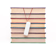 Books and flash drive. Royalty Free Stock Photos