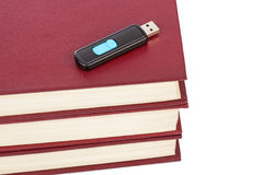 Books and flash memory Stock Images