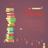 Books  in flat design style, vector illustration reading. Eps10 Stock Images