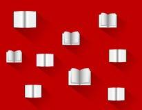 Books in flat design, vector illustration Stock Images