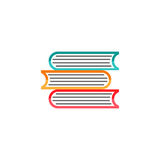 Books flat icon, education and school element Royalty Free Stock Photos