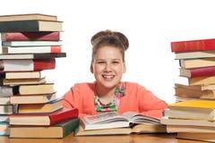 books flickaskolan arkivfoton