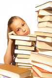 books flickaskolan Royaltyfri Fotografi