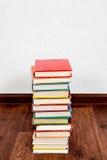 Books on the Floor Stock Photo