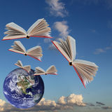 Books are flying Royalty Free Stock Images