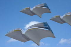 Books flying stock images