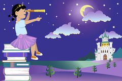 Free Books For Little Princess Royalty Free Stock Photo - 54681205