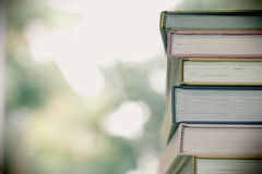 Books. Forefront of a group of books stacked Royalty Free Stock Photos